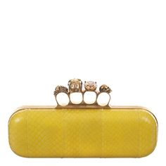 Alexander McQueen yellow python clutch !! I HAVE THIS ONE :)))