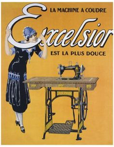 French Sewing Advertising