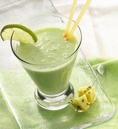 key-lime banana smoothie.