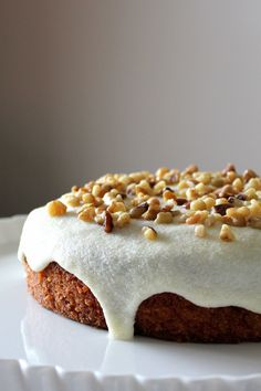 Yellow Zucchini Cake with Cream Cheese Frosting via Oh Sweet Day #recipe