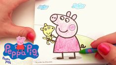 PEPPA PIG Carry Along Coloring Set. Be creative colouring in with crayons & peppa pig coloring pages. Peppa Pig Fun Art Activities Video for Kids.