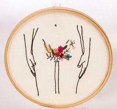 Cross Stitch Kit, DIY Needlework Handmade Embroidery Home Room Decor - Embroidery Design Guide Diy Embroidery, Cross Stitch Embroidery, Embroidery Patterns, Modern Embroidery, Cross Stitching, Textile Art, Fiber Art, Needlepoint, Needlework