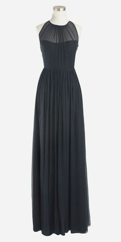 J.Crew Megan long dress in silk chiffon - I've een in Love with this neckline for a while now!