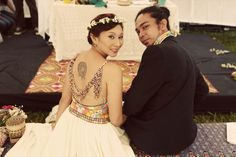 Colorful wedding outfits. An October lovefest: Ray & Yan.