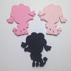 Poodle Die Cuts ~ 2 inch Poodle Cut Outs, Paper Poodles, Paris Birthday Party Decor, Paris Baby Shower Theme, Paris Party Theme, Poodle Dog