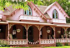 Викторианские дома штата Орегон. USA.