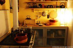 Erbaviola.com - Grazia Cacciola - La cucina a legna, ottima unione con le pentole in coccio! _ My vintage wood stove with natural pots.  http://www.erbaviola.com/2014/04/02/le-pentole-bio-in-argilla-e-pietra-refrattaria-bionatural.htm