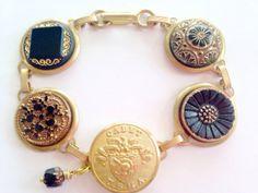 WEST POINT cadet antique button bracelet. USMA by SewSandyShop, $52.00