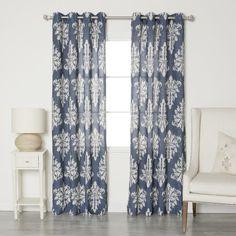 Best Home Fashion, Inc. Linen Blend Grommet Top Curtain Panels & Reviews | Wayfair