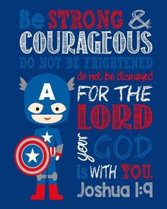 African American Captain America Christian Superhero Wall Art Nursery Decor Print - Be Strong & Courageous Joshua Bible Verse - Multiple Sizes Joshua 1 9, Nursery Wall Art, Nursery Decor, Superhero Wall Art, Superhero Ideas, Superhero Party, Comic Style Art, Christian Wall Art, Christian Decor