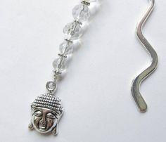 Lesezeichen mit Kristallen und Buddha von soschoen auf DaWanda.com