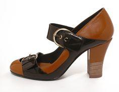 Modèle CAMILLE en cuir verni - Mellow Yellow hiver 07-08 - Camille Daurel design