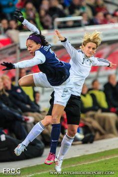 Sydney Leroux vs. Germany, April 5, 2013. (Caroline Charruyer/Pitchside Report)