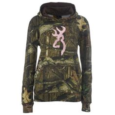 Browning women's mossy oak infinity camo hoodie with buckmark - have in pink but want this one too!