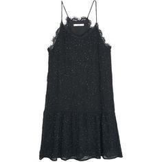 Mango Sleeveless Embroidery Bead Dress, Black (235 DKK) ❤ liked on Polyvore featuring dresses, vestidos, long-sleeve mini dress, floor length cocktail dresses, sheer maxi dress, midi cocktail dress and long-sleeve midi dresses