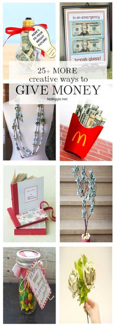 25 MORE Creative Ways to Give Money | NoBiggie.net
