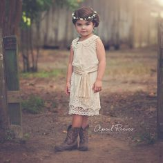 Rustic Flower Girl Dress – Fleur and Lace Boutique
