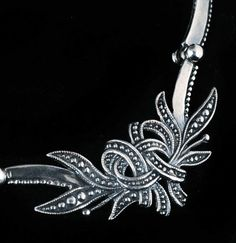 Necklace Detail | Margot de Taxco.  Sterling silver.  c 1955, Mexico