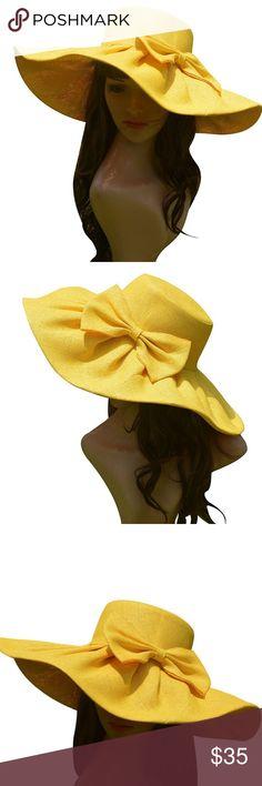 🆕 Vibrant Yellow Wide Brim Sun Hat Brand new. Accessories Hats
