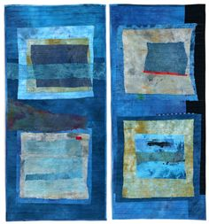 "Blue Fields I, 39""x44"", by Jette Clover."