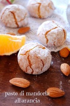 paste di mandorla all'arancia Italian Cookie Recipes, Sicilian Recipes, Italian Cookies, Sicilian Food, Amaretti Cookies, Biscotti Cookies, Almond Paste Cookies, Italian Cake, Torte Cake