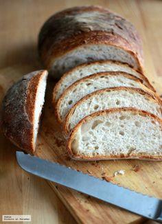 Hogaza casera de masa madre con doble fermentación. Receta de panes