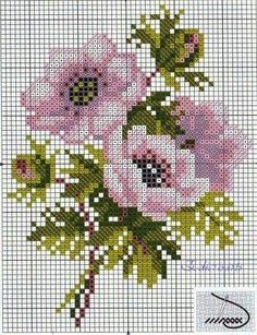 Cross Stitch - Free Patterns and Embroidery: Collection of cross-stitch patterns: flowers .- Punto croce – Schemi e Ricami gratuiti: Raccolta di schemi a punto croce: fiori … Cross Stitch – Free Patterns and Embroidery: Collection of … - Cross Stitch Rose, Cross Stitch Flowers, Cross Stitch Charts, Cross Stitch Designs, Cross Stitch Patterns, Stitch 2, Cross Stitching, Cross Stitch Embroidery, Embroidery Patterns