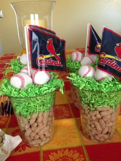 best ideas about Baseball Party Centerpieces on . Softball Party, Baseball Birthday Party, Sports Party, 1st Birthday Parties, Birthday Ideas, Themed Parties, Baseball Party Games, Baseball Snacks, Game Party