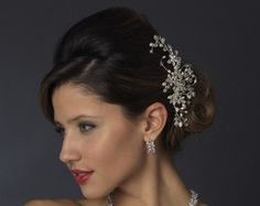 Crystal and Pearl Bridal Hair Comb Swarovski by AGoddessDivine