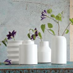 ceramic vases designed by Shane Powers. Available west elm.