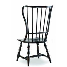 Hooker Furniture Sanctuary Spindle Back Side Chair (Set of 2) Finish: Ebony