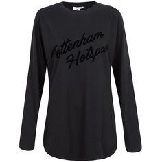 Spurs Womens L/S Longline Flock Print T-shirt   Official Spurs Shop