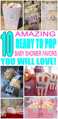 Baby Shower Favors! Ready To Pop  Baby Shower Favor Ideas! The best baby shower favor ideas for your Ready To Pop themed baby shower - Great ideas for boys or for girls, neutral & co-ed showers. Cool and unique baby shower favors for guests to take home. Goodie bags, lip balm, candles, DIY and so much -more. Find the coolest Ready To Pop baby shower favor ideas now!