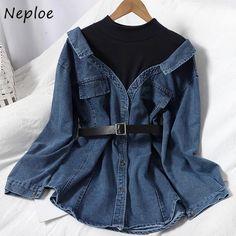 Korean Fashion Dress, Kpop Fashion Outfits, Girls Fashion Clothes, Cute Casual Outfits, Pretty Outfits, Stylish Outfits, Stylish Dress Designs, Short Jeans, Ideas