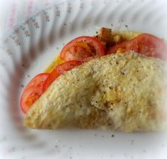 Bread, Cheese and Tomato Omeletfrom The English Kitchen