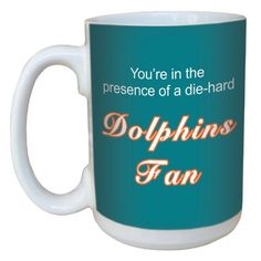 TreeFree Greetings lm44124 Dolphins Football Fan Ceramic Mug with FullSized Handle 15Ounce *** Check out this great product.