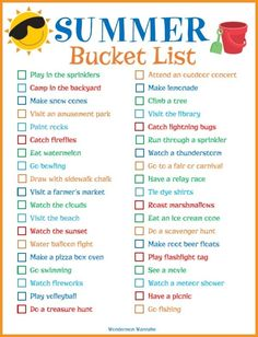 Whether you're looking for a way to keep the kids busy this summer or you don't want it to pass by without making great memories, you'll love this list!