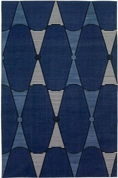 Madeline Weinrib - Cotton - Carpets / Textile // Empress of Style Motifs Textiles, Textile Prints, Textile Patterns, Textile Design, Fabric Design, Pretty Patterns, Color Patterns, Azul Indigo, Indigo Blue