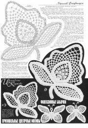 мотивы... и снова много  free Irish crochet