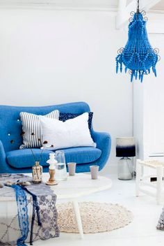 Blue Sofa from the Sofa Company http://www.sofacompagnie.nl/