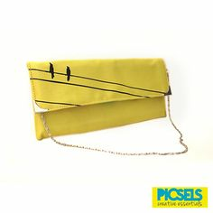 Birds on the line: Lime-yellow clutch. For details and orders, please email us at picselsce@gmail.com