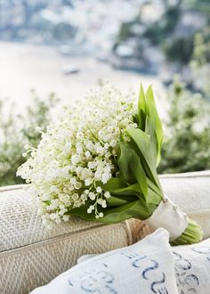 I loved my bouquet. It was exactly what I wanted: a petit bunch of lily of the valley.