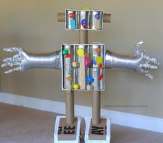 "Robot of recycled materials, from ""The Teaching Tree"" on Facebook"