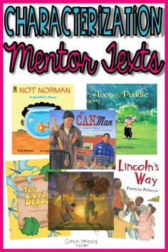 Need some great mentor texts for teaching characterization? I've compiled a bunch into one reading list for you. These books are great to help teach reading skills like characterization and character traits. They make great resources for reading comprehension activities and teach reading skills in a comprehensible way. Click the pin to see all the children's books included!