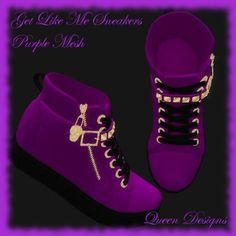 Get Like Me Sneaker Purple Mesh
