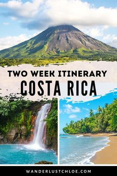 This Costa Rica itinerary is the ultimate guide to spending two weeks in Costa Rica. Find out about visiting La Fortuna, Arenal, Monteverde, Naranjo, Corcovado National Park, Orosi and Puerto Viejo. Whether you're planning a honeymoon, backpacking or something in between, you'll learn where to see the amazing wildlife, packing tips, where photography lovers should go for pictures, and the best destinations and resorts for your trip. #costarica #wildlife #volcano #travel inspiration… Instagram Inspiration, Travel Inspiration, Amazing Destinations, Travel Destinations, Travel Tips, Travel Guides, China Travel, Japan Travel, Corcovado National Park