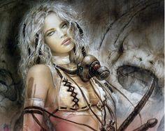 Heavy Metal Magazine - September 2004 (cover by Luis Royo) Fantasy Warrior, Warrior Girl, Warrior Women, Warrior Princess, Aztec Warrior, Princess Art, Julie Bell, Boris Vallejo, Fantasy Women