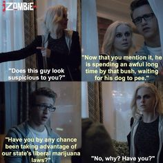 "#iZombie 1x04 ""Liv and Let Clive"" - Liv and Evan"
