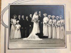 Antique Vintage 1940's US Connecticut Wedding Party Portrait Sepia Photo  | eBay