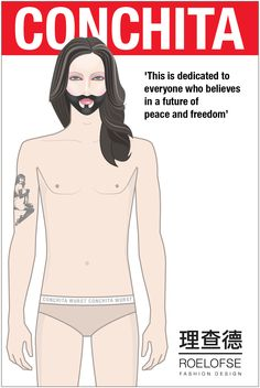 Conchita Wurst   A symbol of freedom Symbols Of Freedom, Peace, Memes, Fashion Design, Shells, Freedom, Amazing, Meme, Sobriety